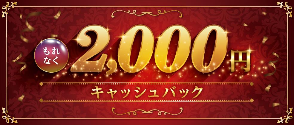 キャッシングリボ払いでもれなく2,000円キャッシュバックキャンペーン
