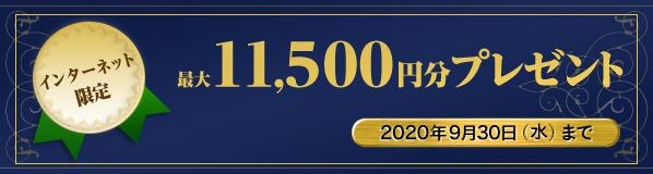 最大11,500円分プレゼントキャンペーン