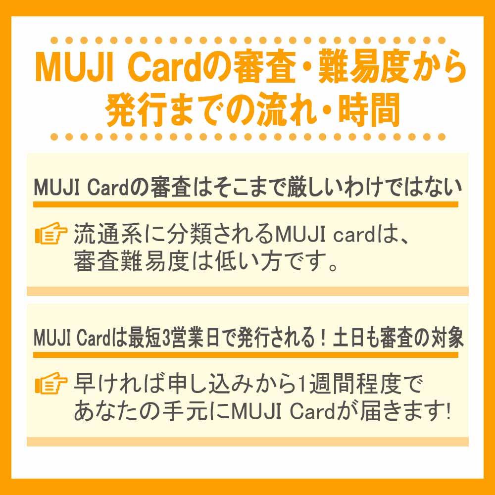 MUJI Cardの審査・難易度から発行までの流れ・時間