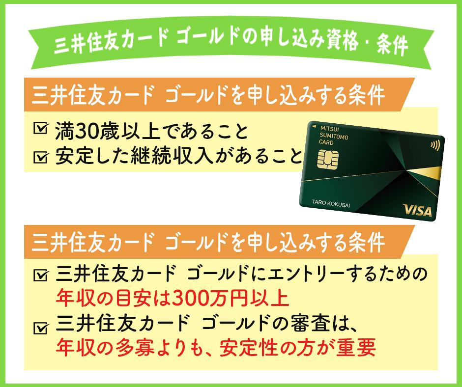 三井住友カード ゴールドの申し込み資格・条件