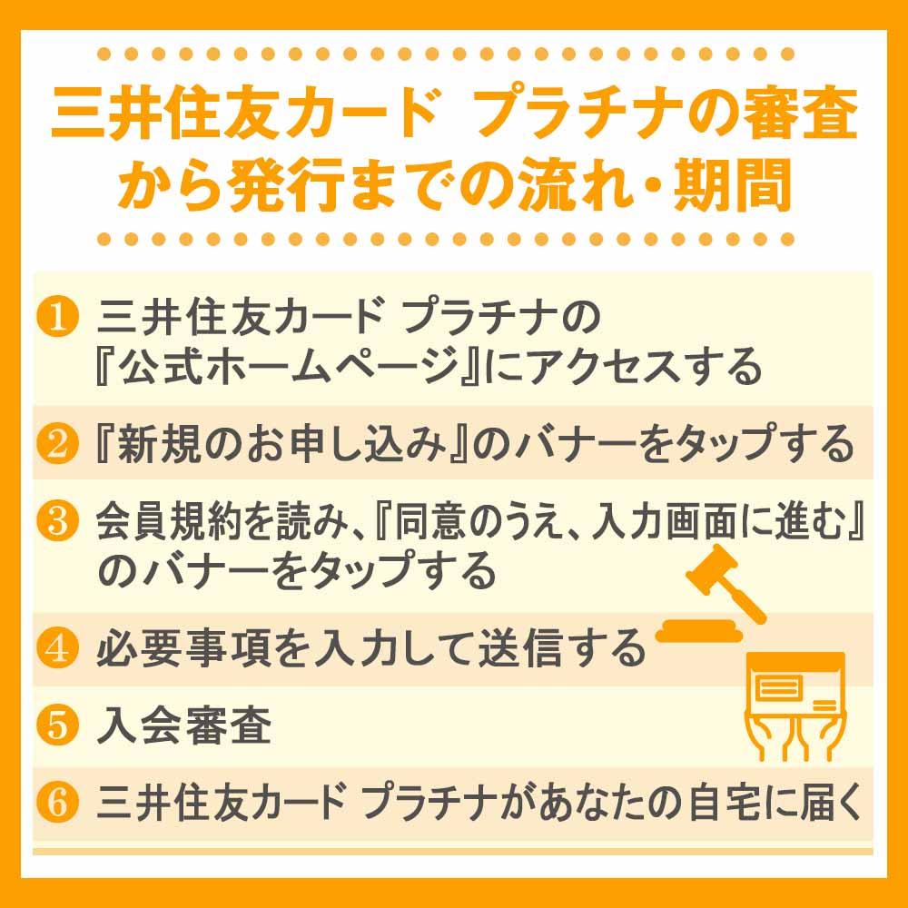 三井住友カード プラチナの審査から発行までの流れ・期間