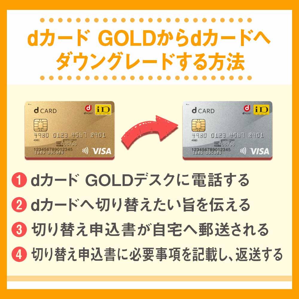 dカード GOLDからdカードへダウングレードする方法
