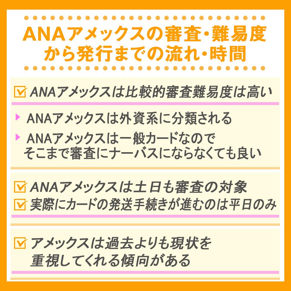 ANAアメックスの審査・難易度から発行までの流れ・時間