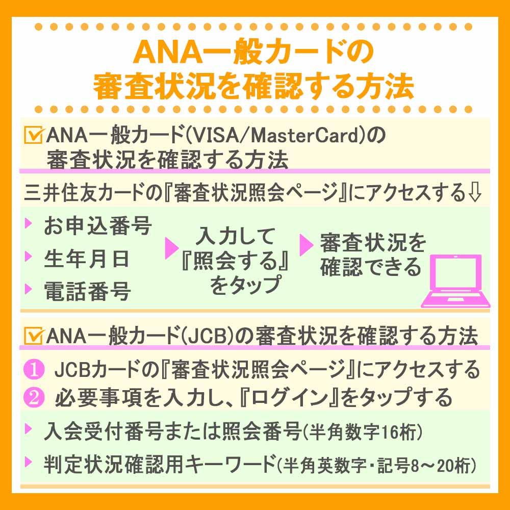 ANA一般カードの審査状況を確認する方法