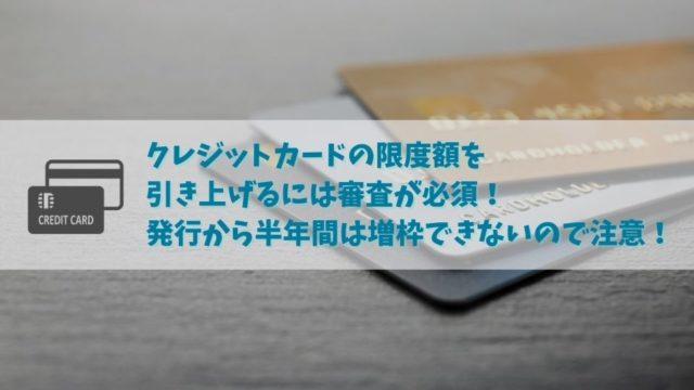 クレジットカードの限度額を引き上げる場合は審査が必要!発行後何ヶ月後に増枠申請が可能?