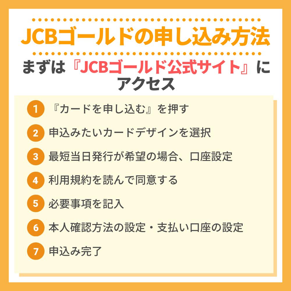 JCBゴールドの申し込み方法