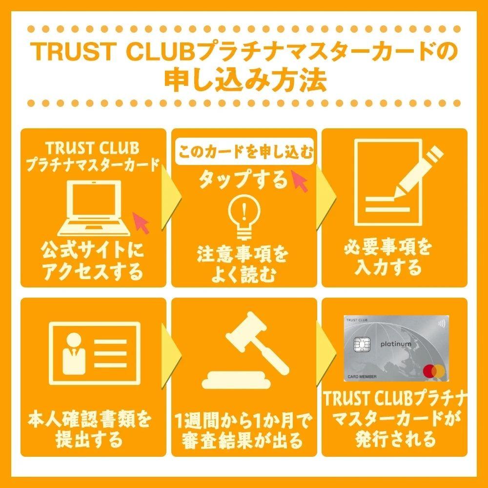 TRUST CLUBプラチナマスターカードの申し込み方法