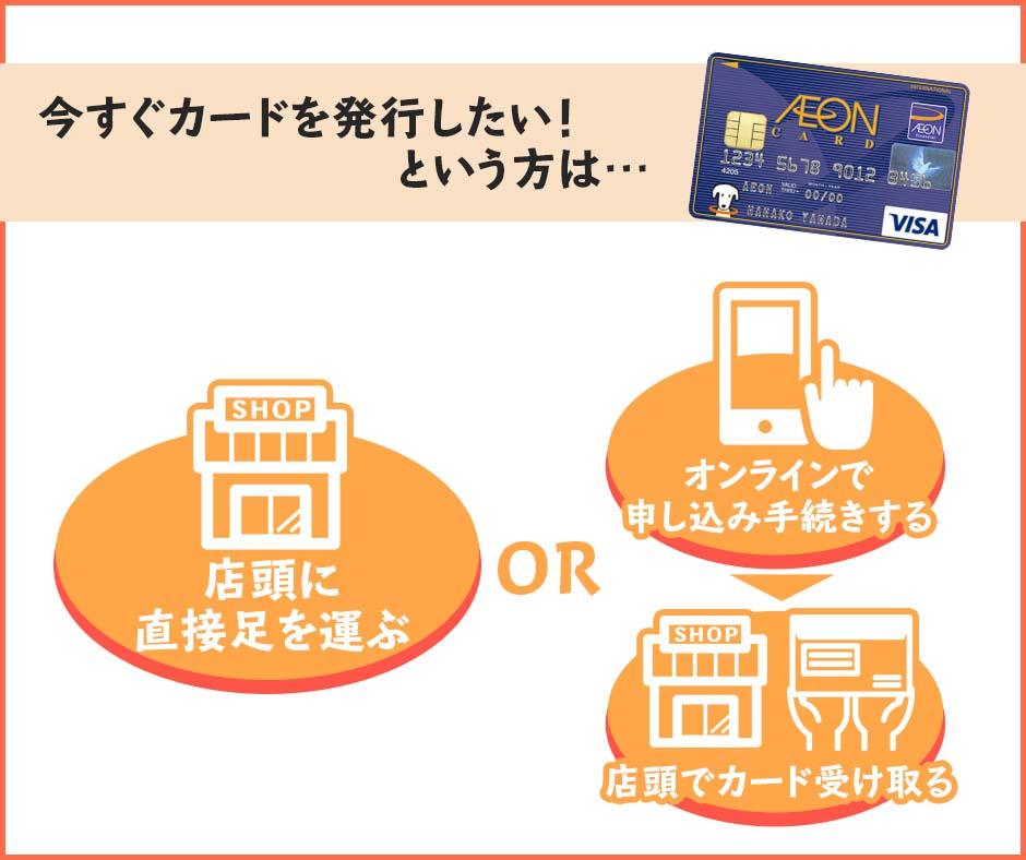 イオンカードは最短即日で発行することもできる