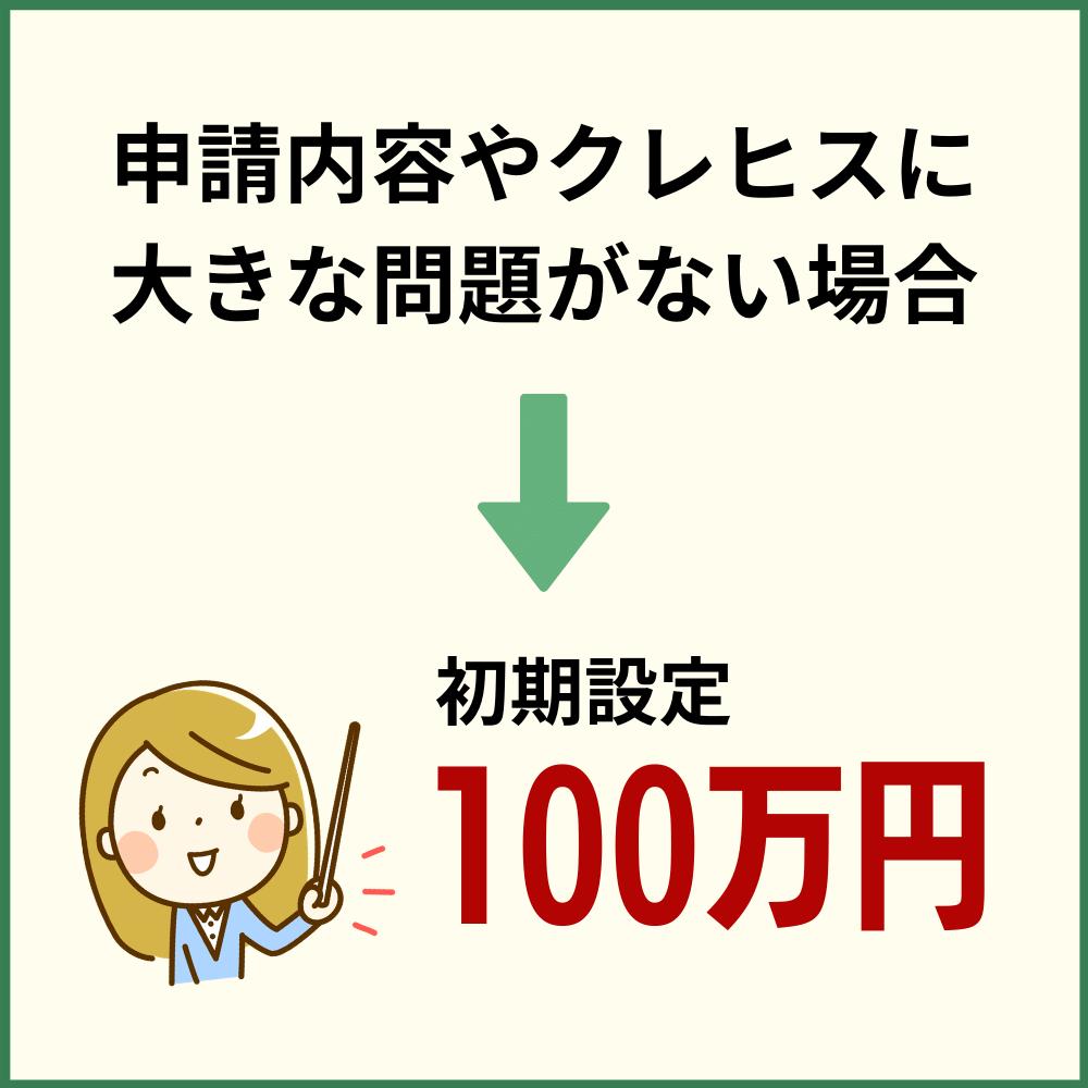 一般的な初期設定は100万円であることが多い