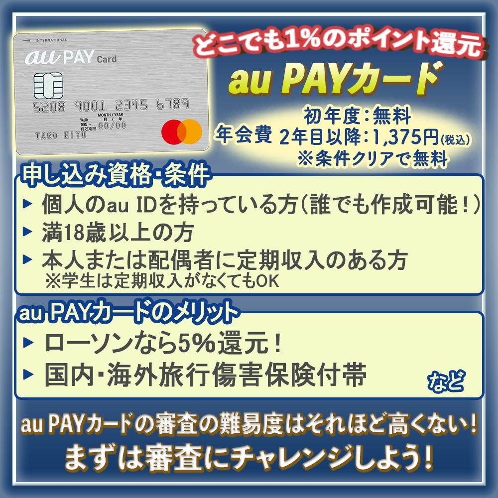 au PAYカードの審査の難易度を解説!審査にかかる時間や落ちないためのチェックポイント
