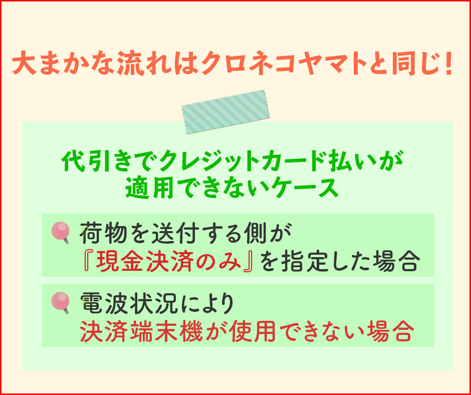 代引きでクレジットカード払いを利用する方法〜佐川急便編〜