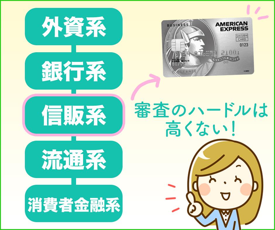 セゾンプラチナ・ビジネスアメックスは信販系のカード
