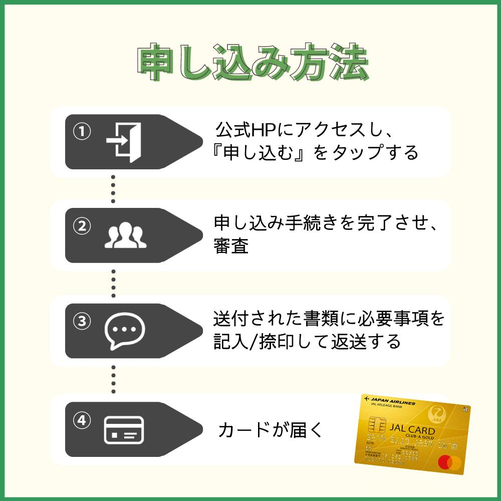 JAL CLUB-Aゴールドカードの申し込み方法・手順