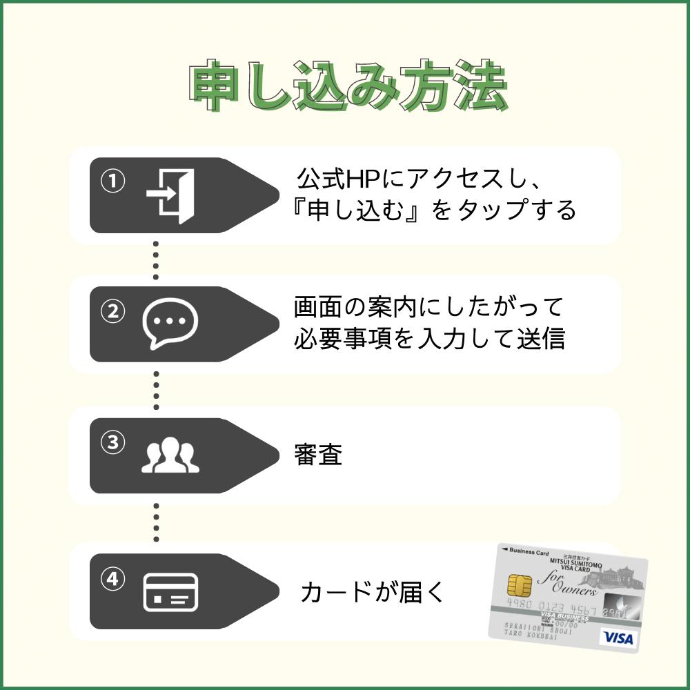 三井住友ビジネスカードfor Owners クラシックの申し込み方法