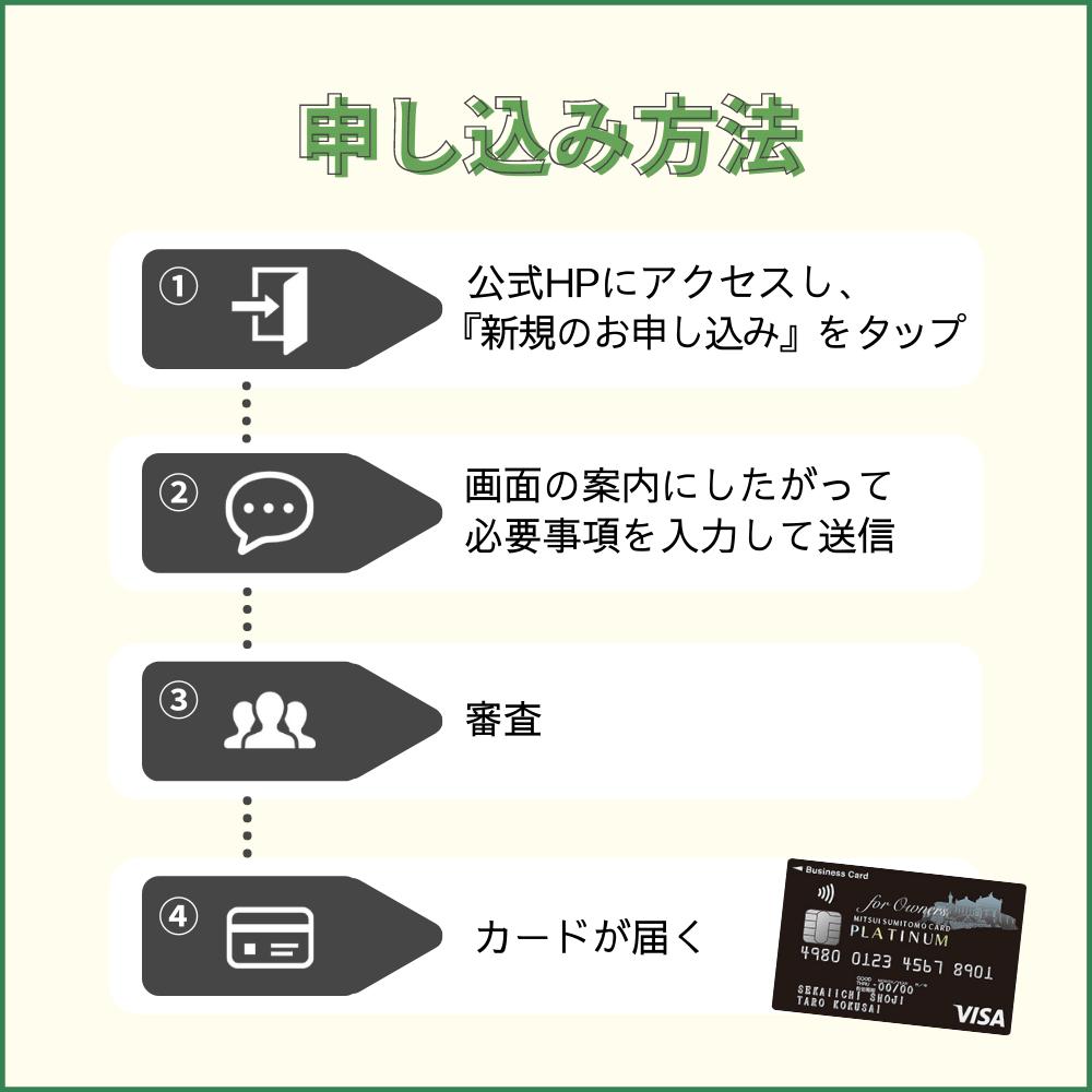 三井住友ビジネスプラチナカード for Ownersの申し込み方法