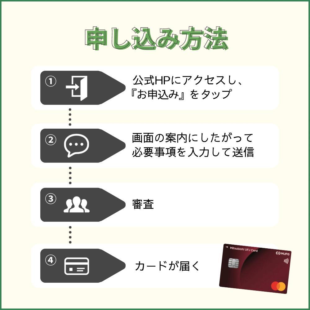 三菱UFJカードの申し込み方法