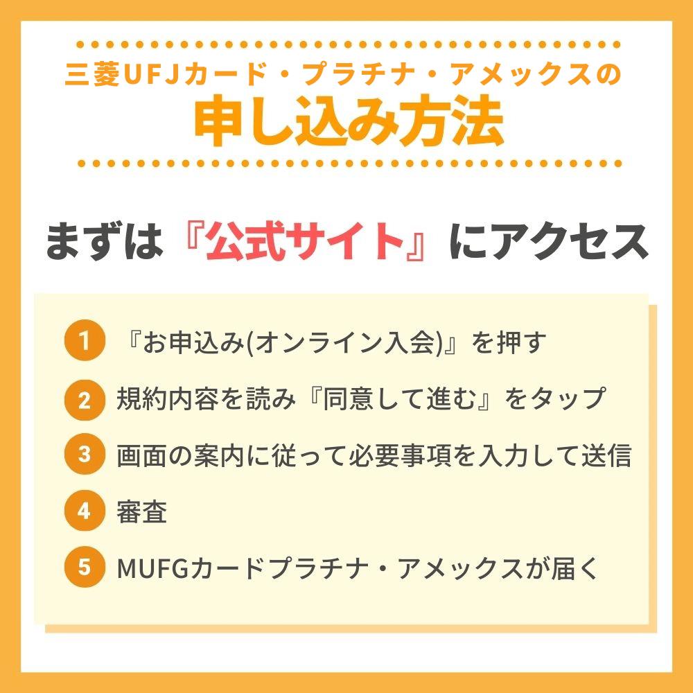 三菱UFJカード・プラチナ・アメックスの申し込み方法