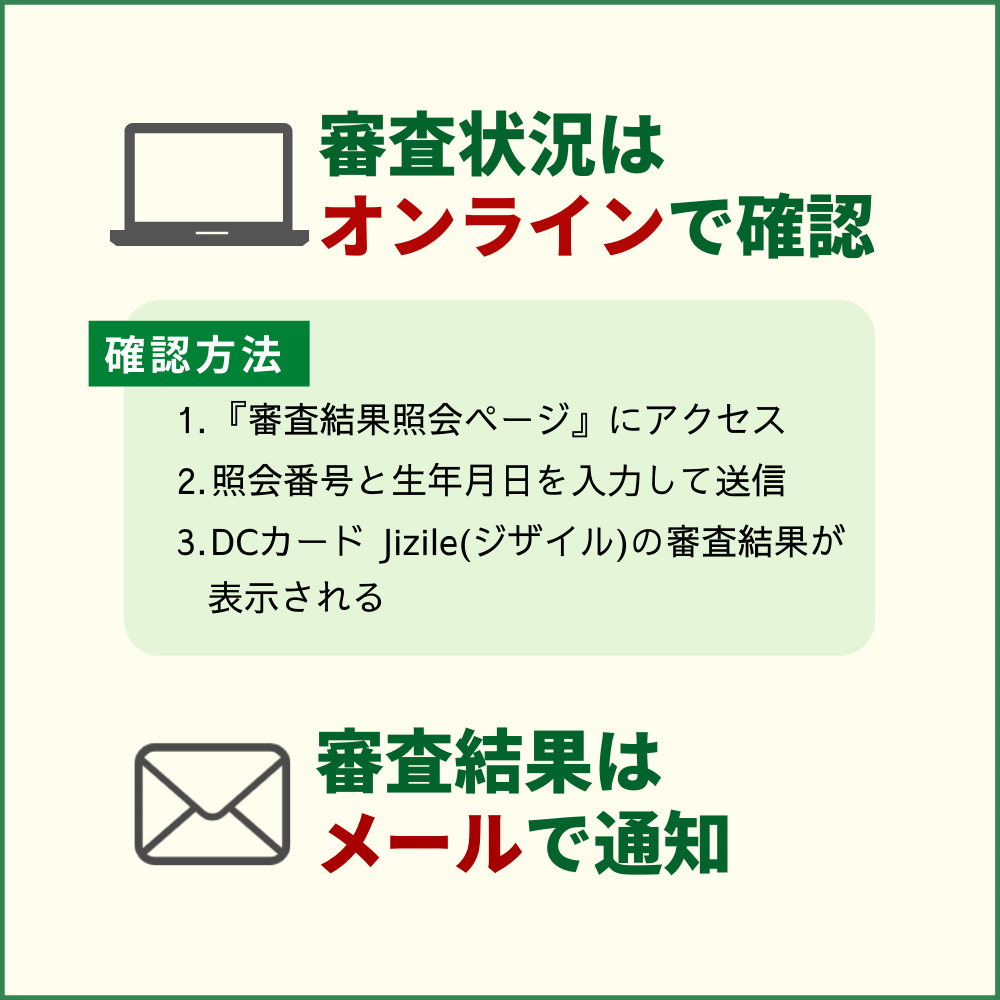 DCカード Jizile(ジザイル)の発行までの時間や審査状況を確認する方法