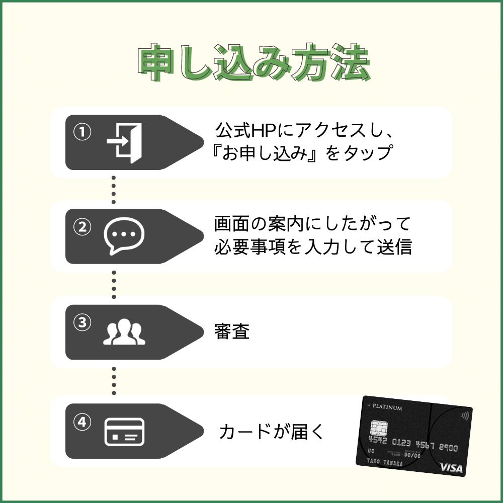 UCプラチナカードの申し込み方法