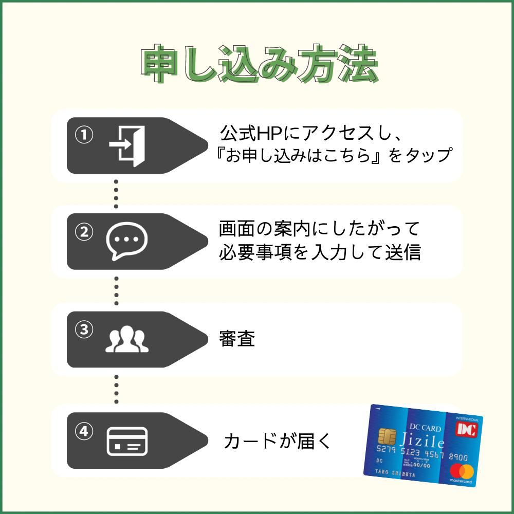 DCカード Jizile(ジザイル)の申し込み方法