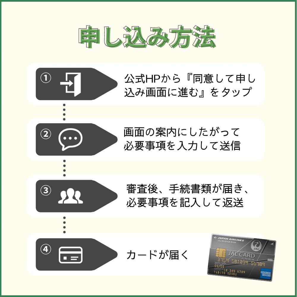 JALアメックスプラチナカードの申し込み方法