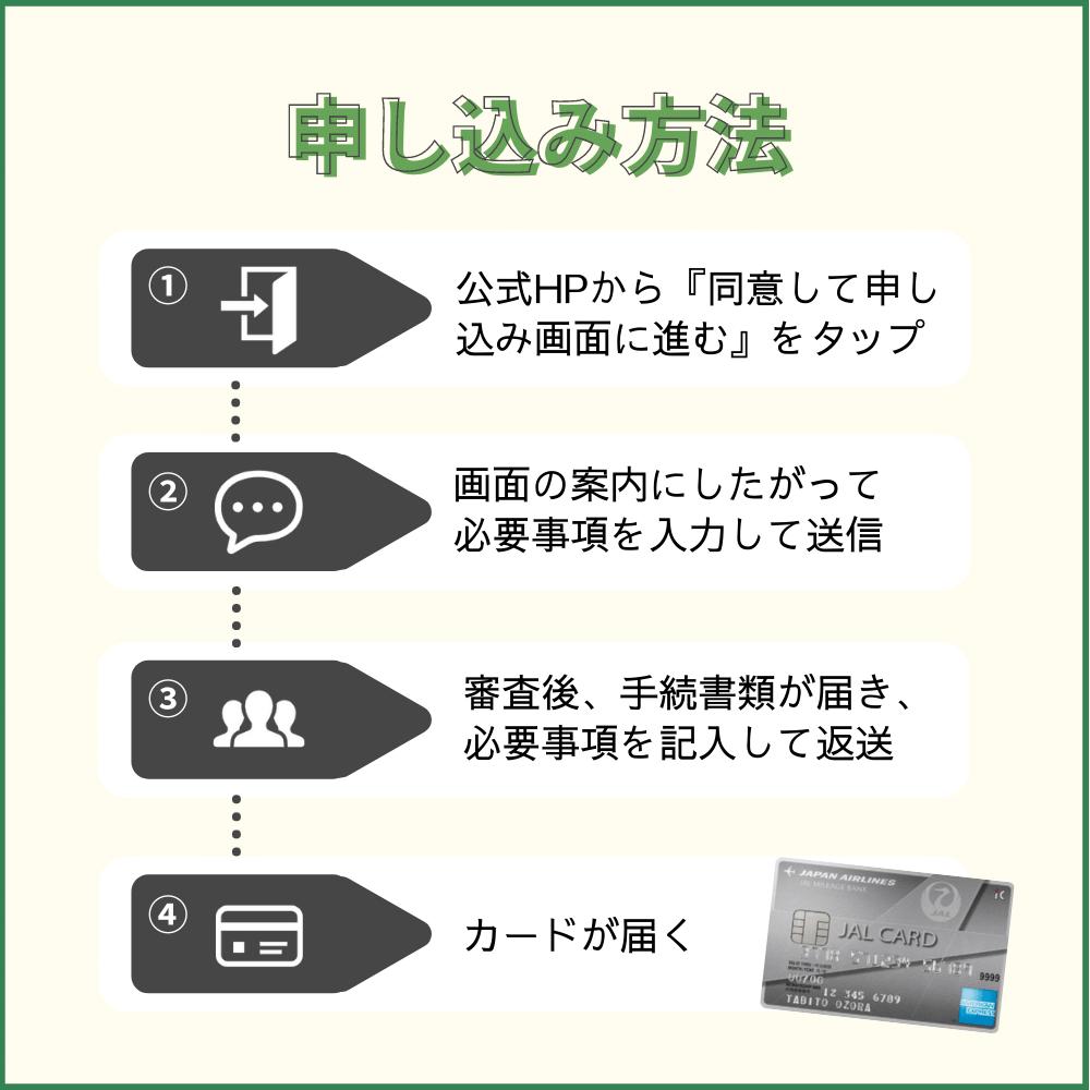 JALアメックス普通カードの申し込み方法
