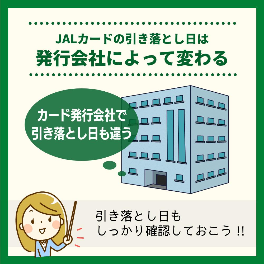 JALカードの締め日は発行会社によって変わることに注意!